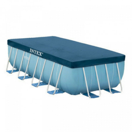 Lona de protección para piscina tubular rectangular Intex